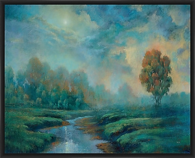 PTM Images 'Blue Dreaming Inverse' Framed Painting Print