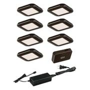 Vaxcel 9 Piece Under Cabinet Puck Light Set; Bronze