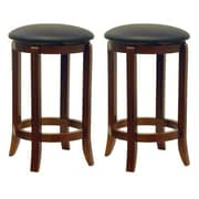Luxury Home 24'' Swivel Bar Stool (Set of 2)