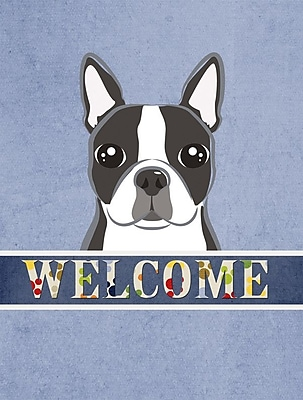 Caroline's Treasures Welcome Boston Terrier Vertical Flag