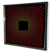 DesignArt Handmade 3D Explosion Mirror Artwork; Red
