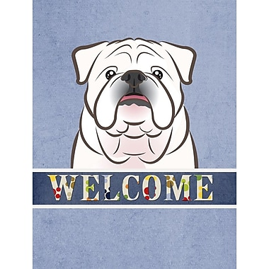 Caroline's Treasures English Bulldog Welcome 2-Sided Garden Flag; White