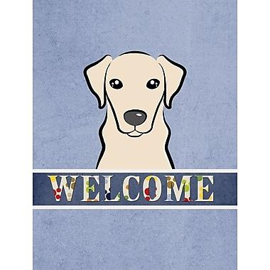 Caroline's Treasures Labrador Welcome 2-Sided Garden Flag; Yellow
