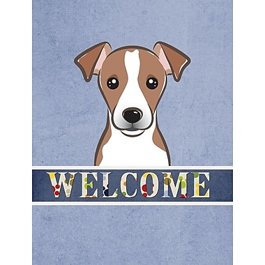 Caroline's Treasures Jack Russell Terrier Welcome 2-Sided Garden Flag; Brown