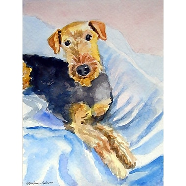 Caroline's Treasures Cozy Airedale Terrier 2-Sided Garden Flag