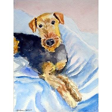 Caroline's Treasures Cozy Airedale Terrier Vertical Flag
