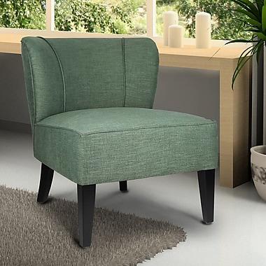 AdecoTrading Deluex Slipper Chair; Green