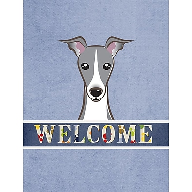 Caroline's Treasures Welcome Italian Greyhound Vertical Flag