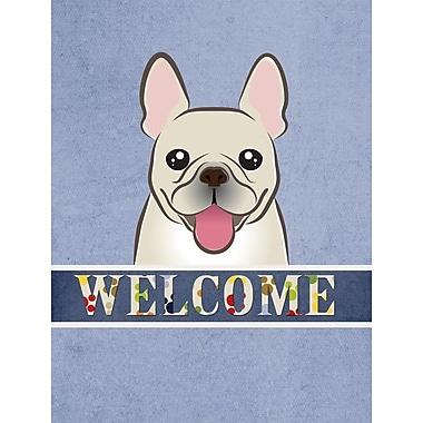 Caroline's Treasures Welcome French Bulldog Vertical Flag