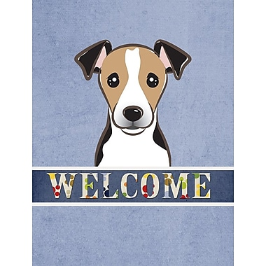 Caroline's Treasures Welcome Jack Russell Terrier Vertical Flag
