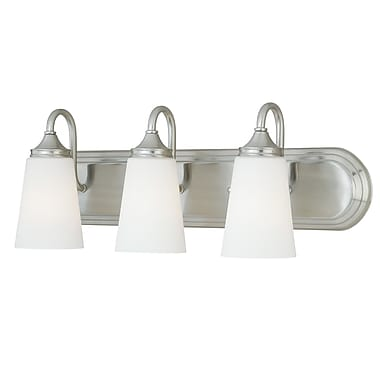 Vaxcel Lorimer 3-Light Vanity Light; Satin Nickel