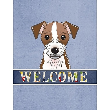 Caroline's Treasures Jack Russell Terrier Welcome 2-Sided Garden Flag