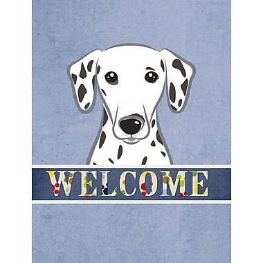 Caroline's Treasures Dalmatian Welcome 2-Sided Garden Flag