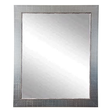 BrandtWorksLLC Antique Nickel Silver Vanity Mirrors; 31.5'' H x 26.5'' W x 0.75'' D