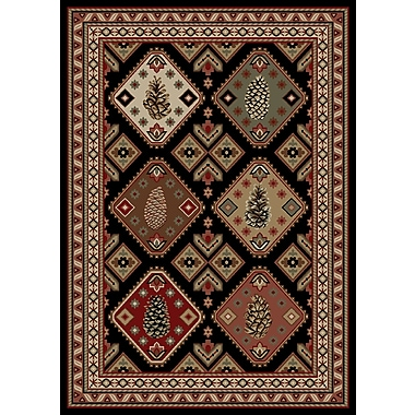 Mayberry Rug American Destinations Black/Brown Area Rug; Rectangle 8' x 10'