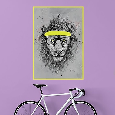 My Wonderful Walls Hipster Lion Wall Decal; Small
