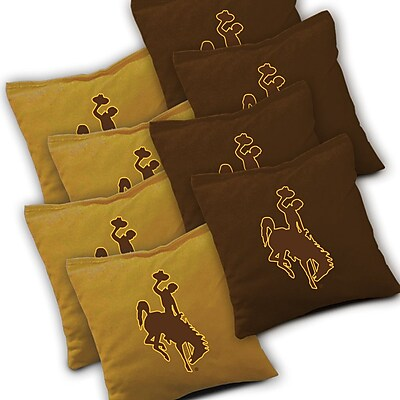 AJJCornhole NCAA Cornhole Bag (Set of 8); Wyoming Cowboys