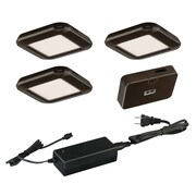 Vaxcel 5 Piece LED Under Cabinet Puck Light Set; Bronze