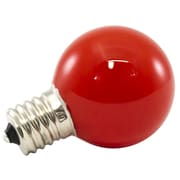 American Lighting LLC Red Frosted 120-Volt LED G40-Light Bulb (Set of 25); 1