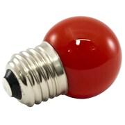 American Lighting LLC Red Frosted 120-Volt LED G40-Light Bulb (Set of 25); 1.2