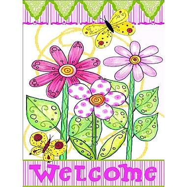 Caroline's Treasures Welcome Flower Vertical Flag