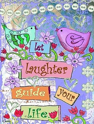 Caroline's Treasures Let Laughter Guide your Life Inspirational Vertical Flag
