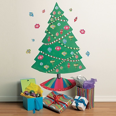 Wallies Christmas Tree Vinyl Holiday Wall Decal