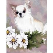 Caroline's Treasures Chihuahua White Flowers Vertical Flag