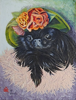 Caroline's Treasures Black Pekingese Vertical Flag
