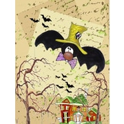 Caroline's Treasures Halloween Bat Crazy Vertical Flag