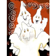 Caroline's Treasures Halloween Ghostly Crew Vertical Flag