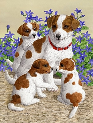 Caroline's Treasures Jack Russell Terriers Vertical Flag