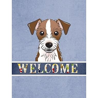 Caroline's Treasures Welcome Jack Russell Terrier Vertical Flag