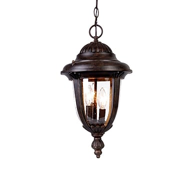 Acclaim Lighting Monterey 3-Light Outdoor Hanging Lantern; Black Coral