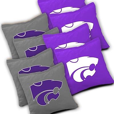 AJJCornhole NCAA 10 Piece Distressed Tabletop Cornhole Set; Kansas State Wildcats WYF078278601780