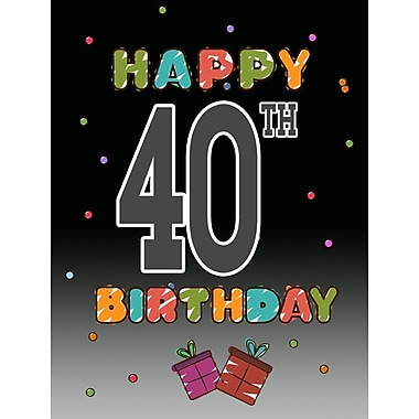 Caroline's Treasures Happy 40th Birthday 2-Sided Garden Flag