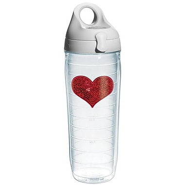 Tervis Tumbler Celebrate Life Sequins Heart Water Bottle; Red