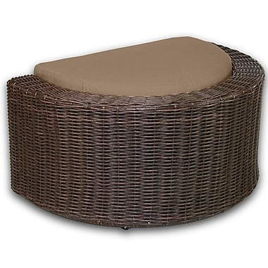 Patio Heaven Palomar Ottoman w/ Cushion; Sierra