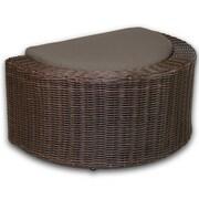 Patio Heaven Palomar Ottoman w/ Cushion; Coffee