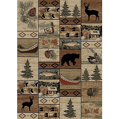 Mayberry Rug American Destinations Beige/Brown Area Rug; Rectangle 5' x 8'