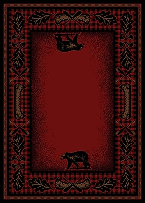 Mayberry Rug American Destinations Red/Black Area Rug; Rectangle 5' x 8'
