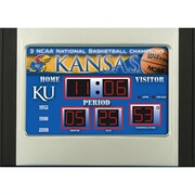 Team Sports America NCAA Scoreboard Desk Clock; Kansas