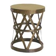 Fashion N You Hammered Drum Cross Table / Stool