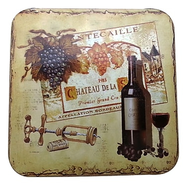 LCM Home Fashions, Inc. Charteau De La Cork Back Coaster (Set of 4)
