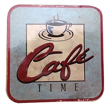 LCM Home Fashions, Inc. Caf Time Cork Back Coaster (Set of 4)