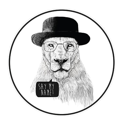 My Wonderful Walls Mr. White Breaking Bad Lion Wall Decal; Extra Large