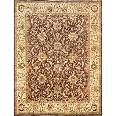 Pasargad Ferehan Hand-Knotted Brown/Beige Area Rug