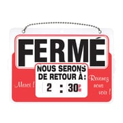 "HeadLine Sign 3826 Open/Closed Double-Sided French Sign, Plastic, 8-1/2"" x 11"