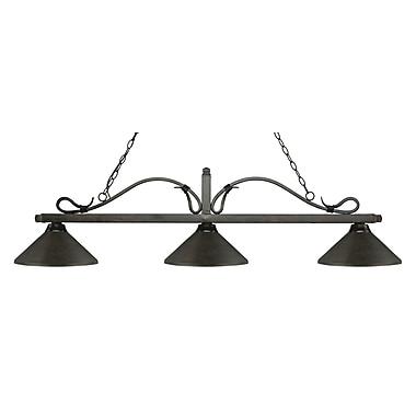 Z-Lite – Luminaire suspendu Melrose pour îlot/table de billard 114-3GB-MGB, 3 amp., bronze doré