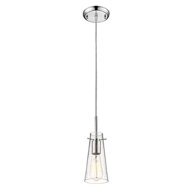Z-Lite – Petit luminaire suspendu Monte 132MP-CH, 1 ampoule, transparent à grains